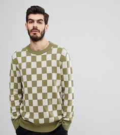Джемпер в шахматную клетку Nudie Jeans Co Elof - Зеленый
