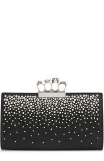 Клатч из кожи с декорированной ручкой Alexander McQueen