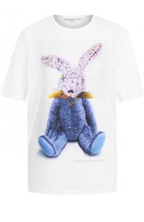 Хлопковая футболка с круглым вырезом и принтом Stella McCartney