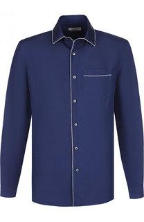 Шелковая сорочка в пижамном стиле Valentino