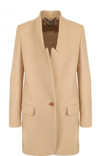 Однотонное шерстяное пальто прямого кроя Stella McCartney