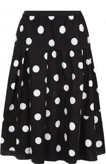 Хлопковая юбка с эластичным поясом в горох Marc Jacobs