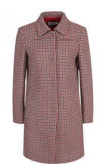 Пальто на пуговицах из смеси шерсти и шелка REDVALENTINO