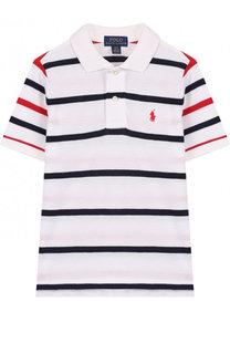 Хлопковое поло в контрастную полоску Polo Ralph Lauren