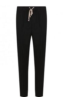 Шерстяные брюки прямого кроя с поясом на кулиске Rick Owens