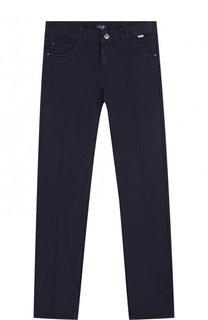 Хлопковые брюки с эластичной вставкой на поясе Il Gufo