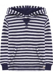 Вязаное худи из хлопка в полоску Polo Ralph Lauren