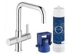 Комплект со смесителем для кухни GROHE Blue (фильтрация, U-излив), хром (31299001)