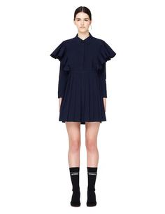 Синее мини-платье с рюшами Vetements