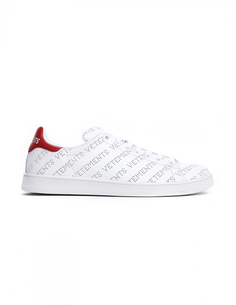 Белые кроссовки Stan Smith с лого Vetements