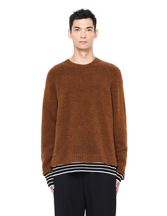 Коричневый свитер с полосками Haider Ackermann