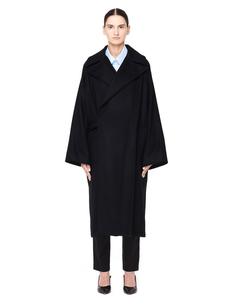Черное шерстяное пальто Ys