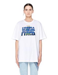 Белая футболка с принтом Italy Tourist Vetements