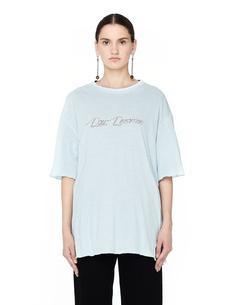 Черно-голубая двусторонняя футболка Undercover