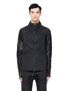 Куртка из текстиля с кожаными рукавами Leon Emanuel Blanck