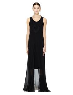 Платье из шелка и хлопка Maison Margiela