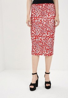 Юбка LOST INK LEOPARD PRINTED PENCIL SKIRT