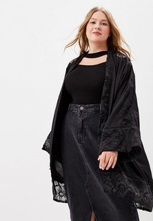 Накидка LOST INK PLUS LONGLINE COVER UP WITH LACE TRIM