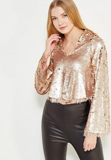 Блуза LOST INK FEATHER TRIM SEQUIN TOP
