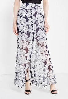 Юбка LOST INK BUTTON THROUGH PRINT MAXI SKIRT