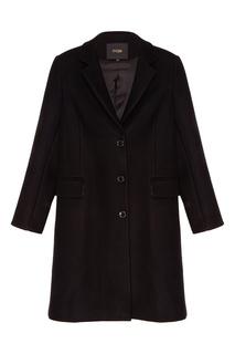 Короткое черное пальто Maje