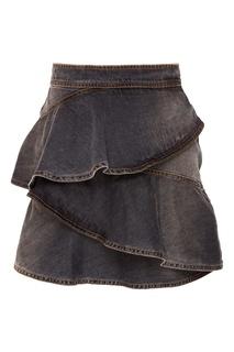 Джинсовая юбка с оборками Coati Isabel Marant Etoile