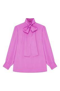 Фиолетовая блузка с бантом Gucci