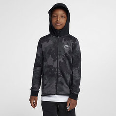 Худи с камуфляжным принтом и молнией во всю длину для мальчиков школьного возраста Nike Air Max