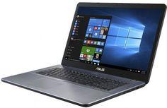"Ноутбук ASUS VivoBook X705MB-BX010T, 17.3"", Intel Pentium N5000 1.1ГГц, 4Гб, 1000Гб, nVidia GeForce Mx110 - 2048 Мб, Windows 10, 90NB0IH2-M00300, серый"