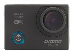 Экшн-камера DIGMA DiCam 200 1080p, WiFi, черный [dc200]