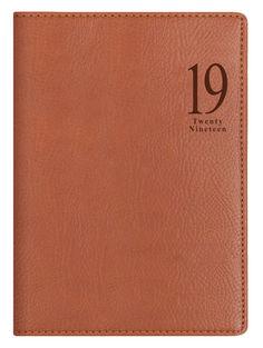 Ежедневник LETTS MILANO, A5, белые страницы, кожа искусственная, светло-коричневый
