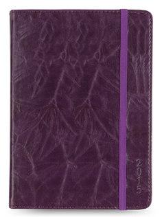 Ежедневник LETTS SOVEREIGN, A6, кремовые страницы, кожа искусственная, фиолетовый, 1 шт