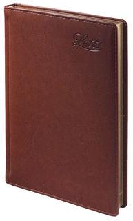 Ежедневник LETTS UMBRIA, недатированный, A5, белые страницы, кожа искусственная, коричневый
