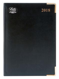 Ежедневник LETTS LEXICON (PU), A5, белые страницы, кожа искусственная, черный, 1 шт