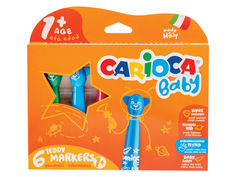 Фломастеры Carioca Baby Teddy Marker 6 цветов 42815 / 262567