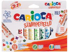 Фломастеры-штампы Carioca Stamp Markers 12 цветов 42240 / 262572