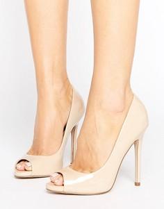 Туфли на высоком каблуке с открытым носком ASOS PRAISE - Бежевый