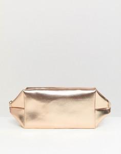 Косметичка цвета розового золота South Beach - Золотой