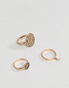 Комплект золотистых колец ALDO - Золотой