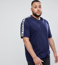 Темно-синяя футболка с отделкой лентой Fila - Темно-синий