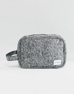 Меланжевый трикотажный несессер Spiral - Серый