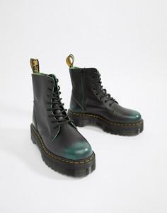 Зеленые ботинки на молнии с 8 парами люверсов Dr Martens Jadon - Зеленый