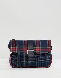 Клетчатая сумка на плечо в стиле 90-х ASOS DESIGN - Мульти