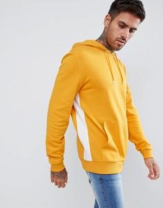 Худи желтого цвета с полосой по бокам ASOS DESIGN - Желтый