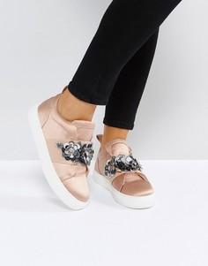 Декорированные кроссовки ASOS DESERT ROSE - Бежевый