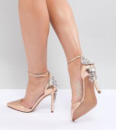 Туфли для широкой стопы на высоком каблуке с отделкой ASOS DESIGN Plaza - Золотой