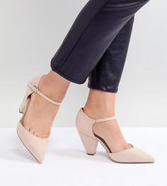 Туфли на каблуке с острым носом для широкой стопы ASOS DESIGN Speaker - Бежевый