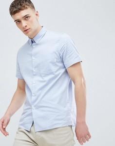 Голубая повседневная рубашка с короткими рукавами и карманом PS Paul Smith - Синий