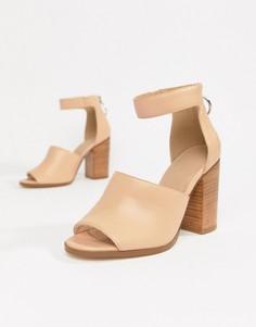 Босоножки на каблуке в стиле casual от ASOS DESIGN Taro - Бежевый