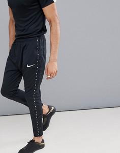Черные джоггеры с отделкой лентой Nike Football Dry Academy 924738-010 - Черный